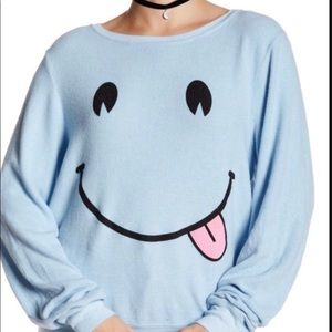 Wildfox smiley face pullover